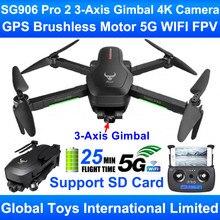 Zlrc besta sg906 pro 2 motor sem escova gps 5g wifi fpv 3 eixos cardan profissional 4k câmera rc zangão quadcopter apoio cartão sd