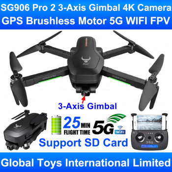 ZLRC Beast SG906 Pro 2 Brushless Motor GPS 5G WIFI FPV 3-Axis Gimbal Professional 4K Camera RC Drone Quadcopter Support SD Card