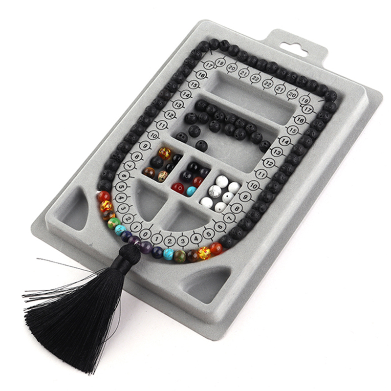 13 Styles Flocked Bead Board For Bracelet Necklace Tray Beading Accessories Measuring Tools Crafts For Jewelry Making DIY
