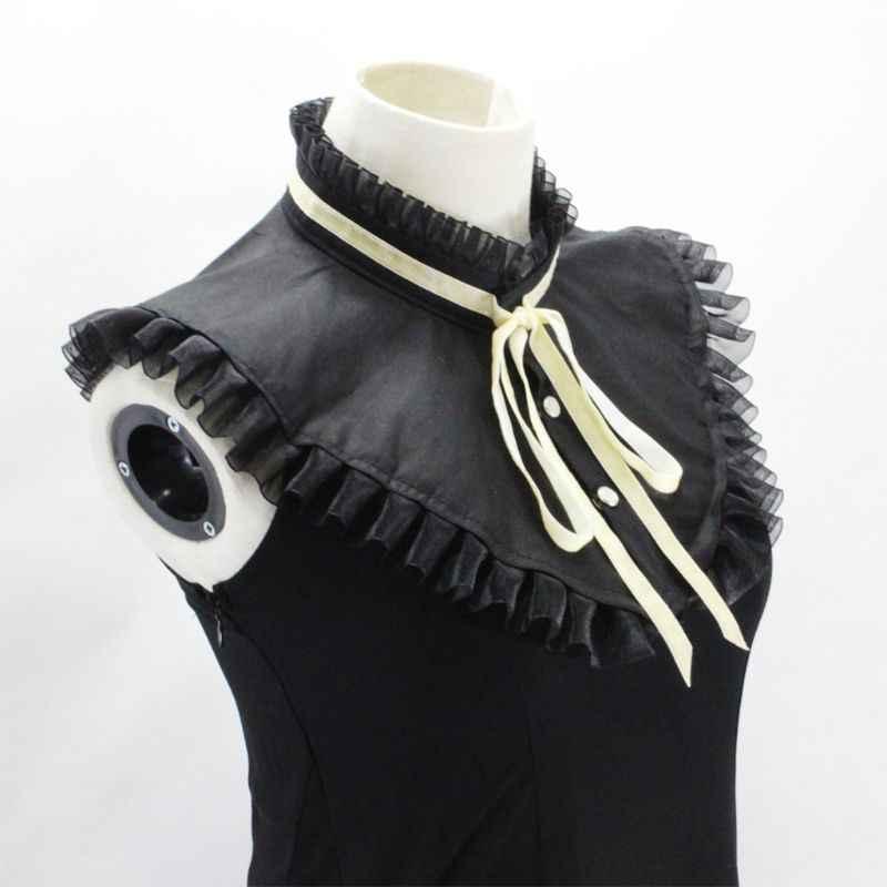 THINKTHENDO DIY Бабочка Стенд Поддельный Воротник плиссированные оборки обода ожерелье чокер Половина Рубашка
