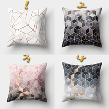 Cases Cushion-Cover Pillow Waist-Throw Home-Decor Geometric-Fashion-Printing Soft 1pcs