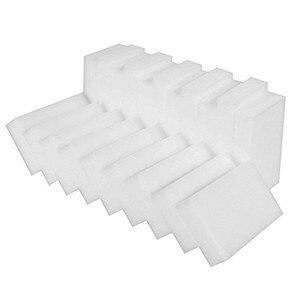 100pcs/lot White Magic Sponge Cleaner Eraser Multi-functional Cleaner Melamine Sponge For Kitchen Bathroom Cleaning 10x6x2cm