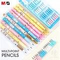M & G Многоточечные карандаши не заточка Авто Механический карандаш Push-A-Point сильный Карандаш свинец для школьных принадлежностей IELTS использ...