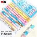 M & G Multi Punkt Bleistifte Nicht-schärfen Auto Mechanische Bleistift Push-A-Punkt Starke Bleistift Blei für Schule Liefert IELTS Verwenden