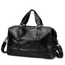 Mens Large Capacity Pu Leather Casual Travel Duffle Bags Luggage 2020 New Men Handbag Fashion Black Shoulder Crossbody Bag high quality large capacity men pu leather computer business handbag casual vintage shoulder crossbody bag for travel work