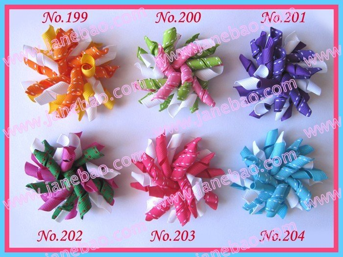 """60 шт 2,"""" коркер банты для волос(сшитые) разноцветные заколки для волос персонаж лента банты для волос"""