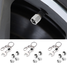 Dust-Covers Key-Chain Car-Accessories Mustang Valve-Caps Ranger Car Tyre Stainless Ford