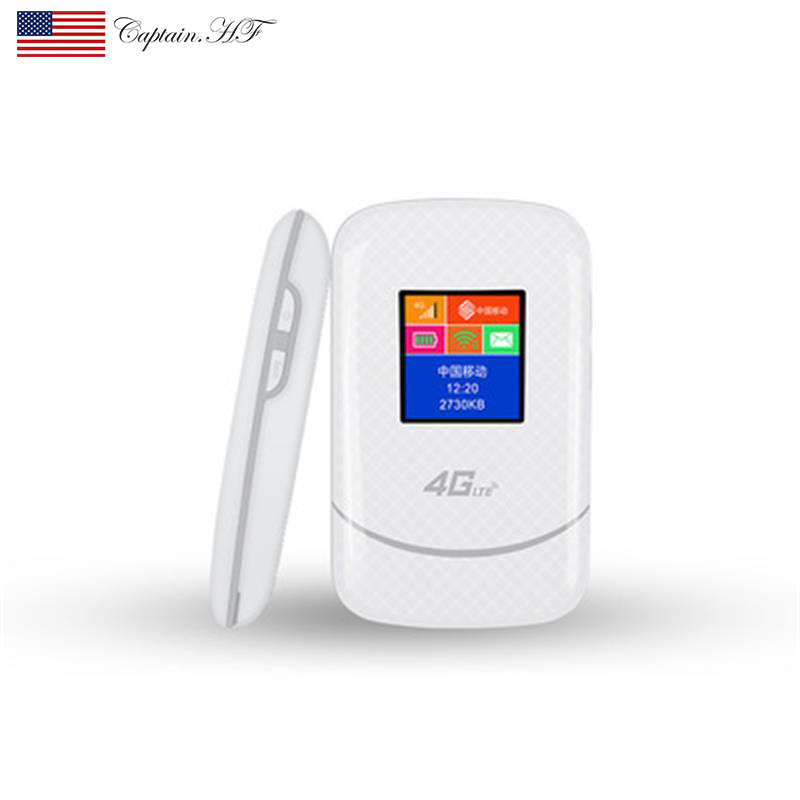 US Captain WFi 4G LTE Mobile WiFi Hotspot Unlocked Wireless Internet Router Devices With SIM Card Slot For Travel Support