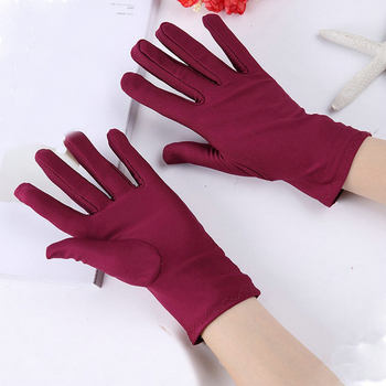 Women Spandex Gloves Classic Thin High Quality Short Sun Protection High Elastic Female Jewelry Etiquette Dance Boutique Gloves image