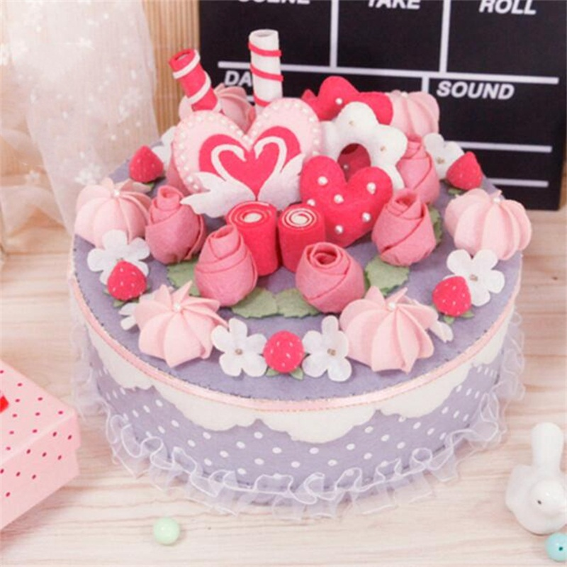 DIY Simulation Cake Learning Education Toys Kids Craft Toys DIY Storage Box Home Decoration Christmas Birthday Gifts