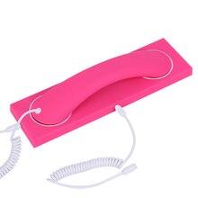 3.5mm Interface Speaker Draagbare Lichtgewicht Retro Ruisonderdrukking Mobiele Telefoon Handset Oortelefoon Microfoon Thuis Universele ABS