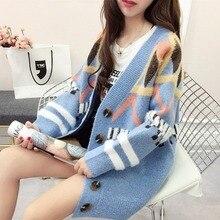 New cardigan with autumn wool girls sweaters winter dresses women 2019 sweater