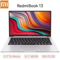 Xiaomi RedmiBook 13 Laptop 13.3 inch Full Screen i7 10510U/i5 10210U MX250 Windows 10 Home 8GB RAM 512GB ROM Notebook