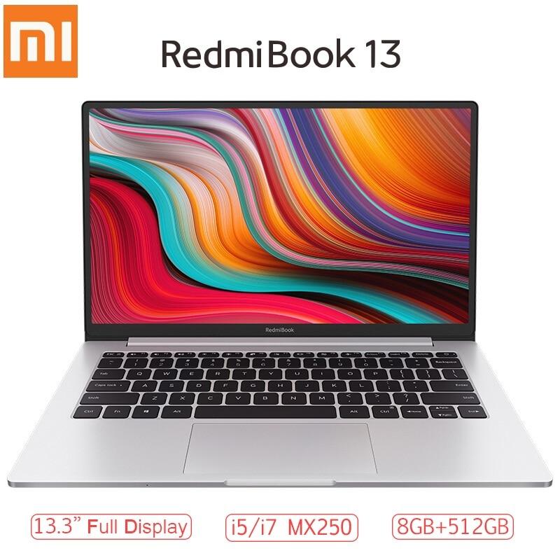 Xiaomi RedmiBook 13 Laptop 13.3 Inch Full Screen I7-10510U/i5-10210U MX250 Windows 10 Home 8GB RAM 512GB ROM Notebook