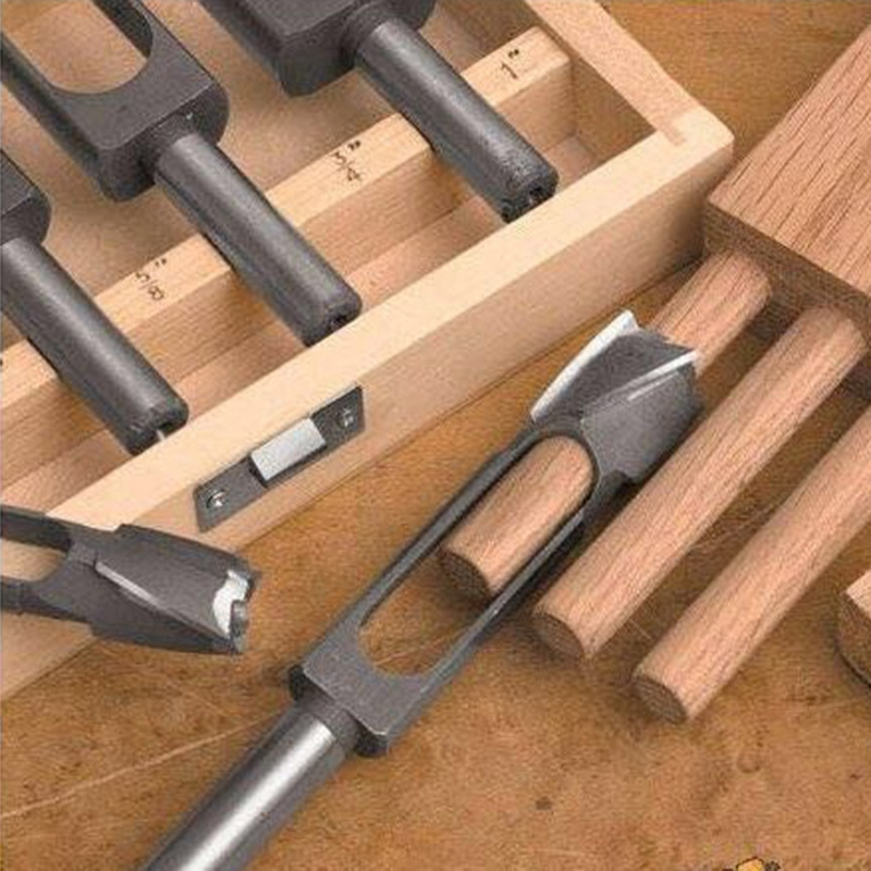 2Pcs 8mm/10mm Tenon Maker Tenon Dowel & Plug Cutter Tapered Snug Plug Cutters For Furniture Making Carpentry And Home