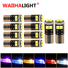 10PCS T10 W5W New 3030 Super Bright LED Canbus No Error Car Interior Reading Dome Lamp Auto Parking Lamp Wedge Tail Side Bulb