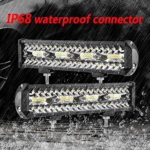 Image 3 - Aeobey 12 אינץ 240W 80led מכביש Led אור בר מעוקל LED נהיגה אורות 4x4 Offroad משאית SUV טרקטורונים טרקטור סירת 12v 24v