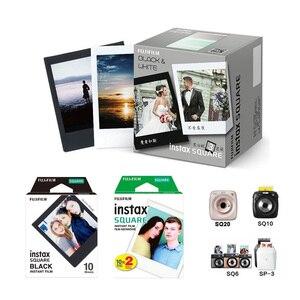 Image 5 - Brand New 10PCS/30PCS Fujifilm Instax Quadrato Bianco Bordo Nero Film Carta Fotografica per Instax SQ10 SQ6 macchina Fotografica istantanea