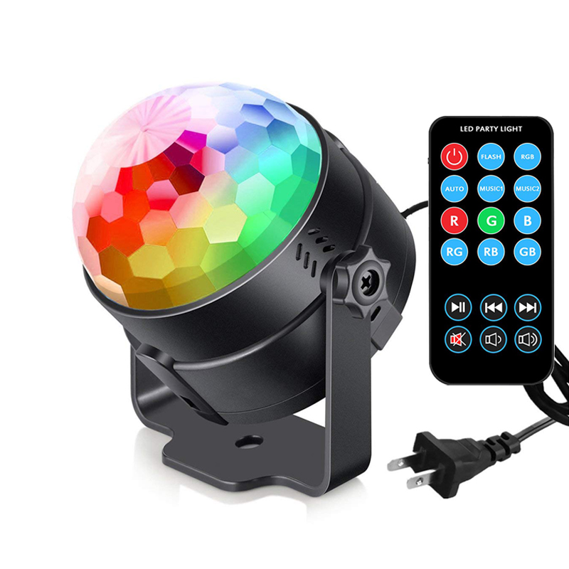 DJ Party Lights Projetor Disco KTV Ball Lamp USB LED Par Light RGB 3W EU US DMX Stage Light Moving Head UV Wall Washer Backlight