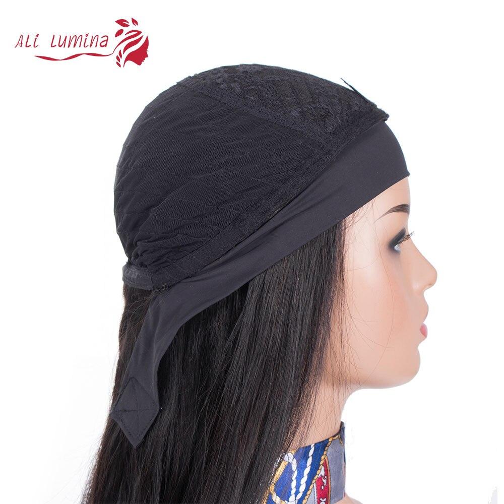 Wigs Full Machine Made Wig 130 150 Density Headband Wig  Hair Straight  Hair Easy Wearing Glueless Wig 5