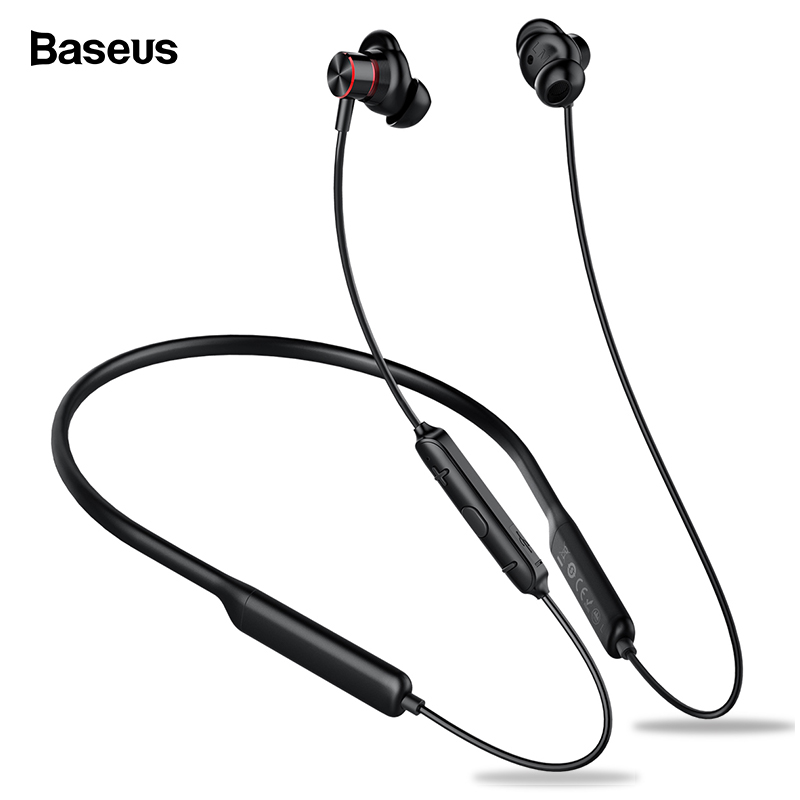 Baseus S12 Neckband Bluetooth Earphone Headphone For Phone Bluetooth 5.0 Wireless Earphones Bass Headset With Mic fone de ouvido-in Bluetooth Earphones & Headphones from Consumer Electronics on AliExpress
