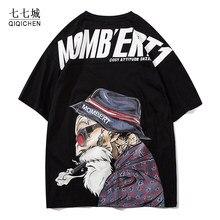 Camiseta de Hip Hop para hombres, geniales camisetas estampadas para ancianos, camisetas informales de cuello redondo, camisetas para parejas Harajuku para verano