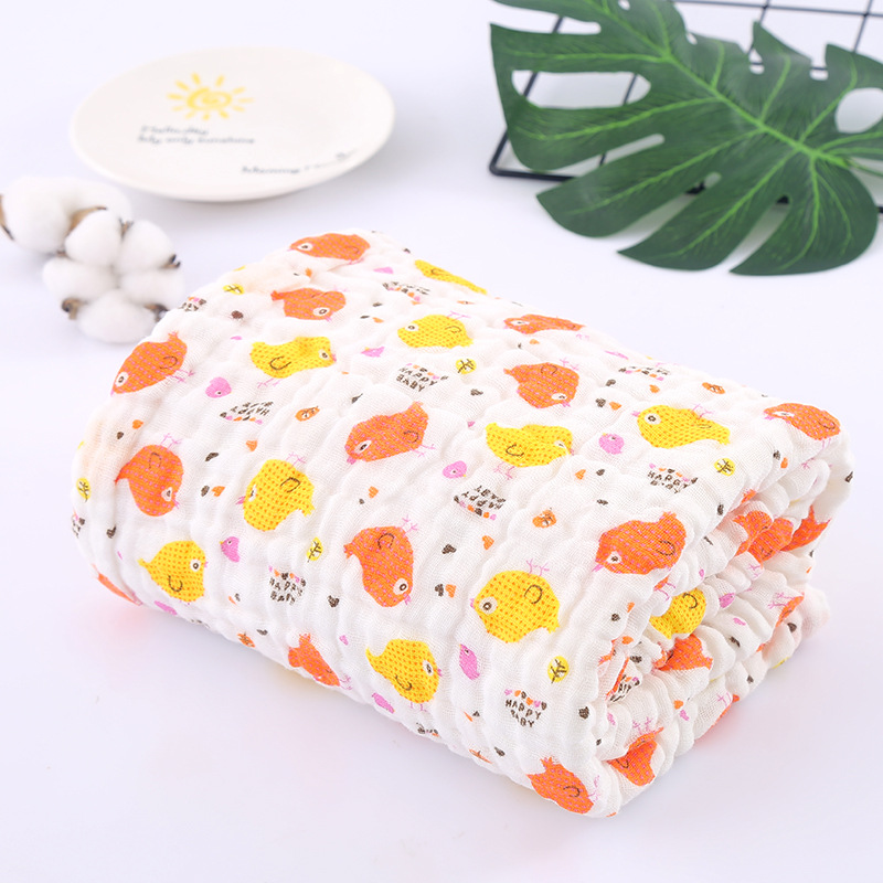 105*105cm 6 Layers Baby Blankets Newborn Super Soft Baby Swaddle Blankets 100% Muslim Gauze Cotton Muslin Swaddle Bath Towel