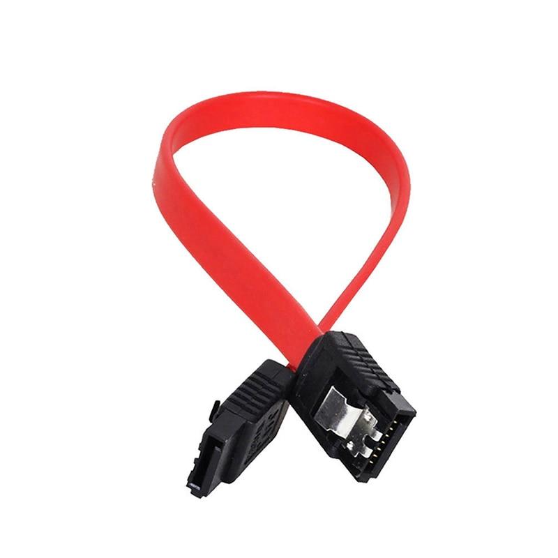 Желтый красный 3 ГБ/сек. 45 см SATA2 к SATAII Usb кабель для передачи данных для компьютера разъем прямой кабель жесткого диска SATA 7P к SATA7P Прямая поставка| |   | АлиЭкспресс