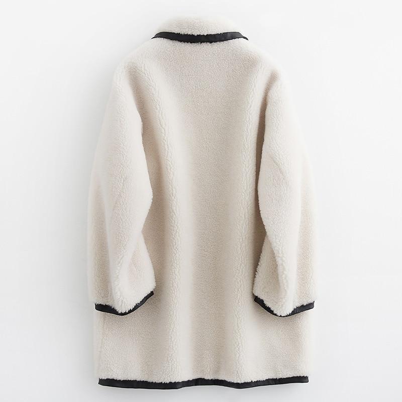 Real Fur Korean Sheep Shearing Winter Coat 100% Wool Jacket Women Clothes 2020 Manteau Femme B19F33121 YY1183