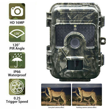 Hunting Camera 1080P 16MP HD Hunting Trail Camera Photo Traps Night Vision Wildlife Infrared Hunting Trail Cameras Wildcamera tactical hunting trail camera for outdoor sport os37 0034