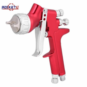 ROLKETU professional spray gun gfg red HVLP car paint gun 1.3mm automotive Gravity feed painting tools free shipping soonrise t50b car painting gun hvlp spray gun 600cc plastic cup gravity feed type 1 3mm nozzle