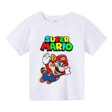 Summer Children's Short-sleeved T-shirt Boys and Girls Cotton Print Cartoon Children's Shirt Streetwear Mommy and Me Clothes