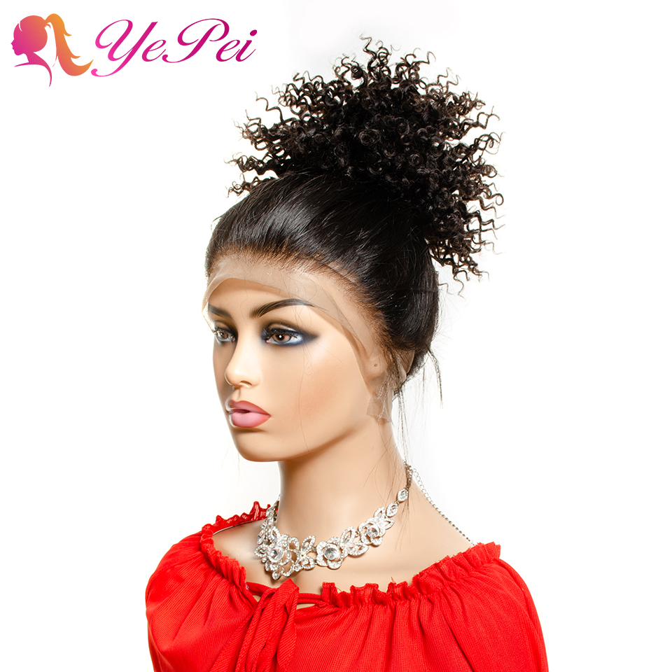 6inch Short Curly Hair Bun Extensions Drawstring Ponytail Human Hair Natural Black Brazilian Clip Ins Remy Yepei Pony Tail