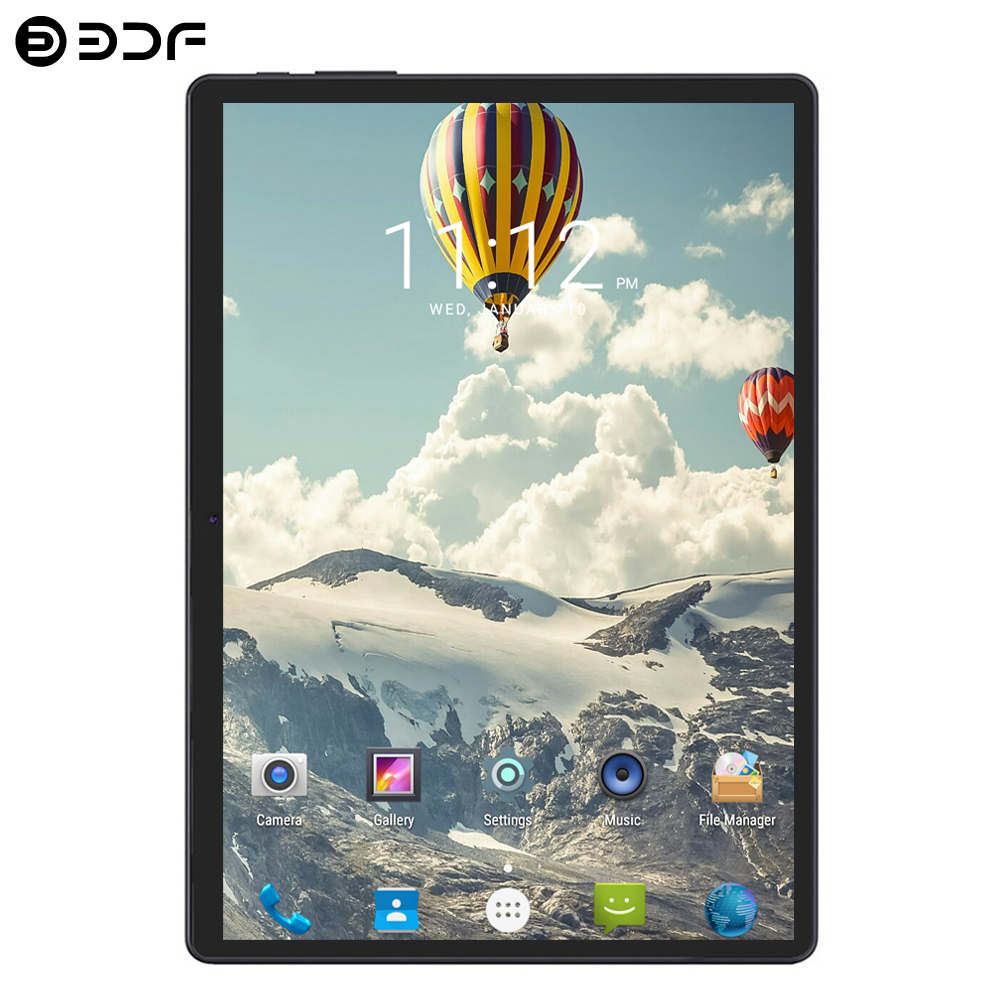 BDF Android 4.4 Tablet PC 10 Inch Quad Core 1GB RAM 16GB ROM Dual Cameras 5.0MP WiFi FM IPS 3G Call Dual SIM Cards Tablet 10.1