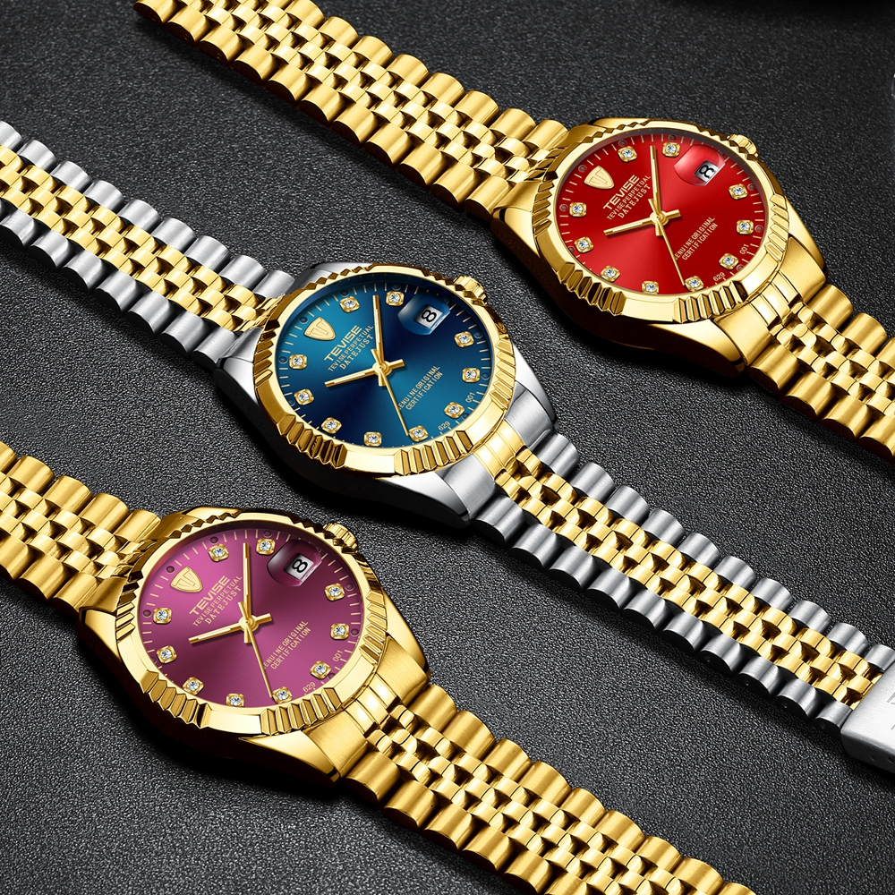 Tevise Armbanduhren Steampunk Herren Roman Number Day Watch - Herrenuhren - Foto 3