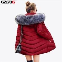 Parkas de otoño e invierno para mujer, Chaqueta larga, abrigo, sombrero desmontable, abrigo informal con cuello de piel, 2021
