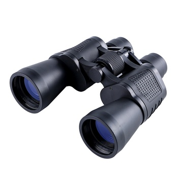 New Binocular 10x50 Telescopes with Phone Clip HD Optical Bak4 Prism Powerful Hunting Lightweight for Bird Watching Travel Sight
