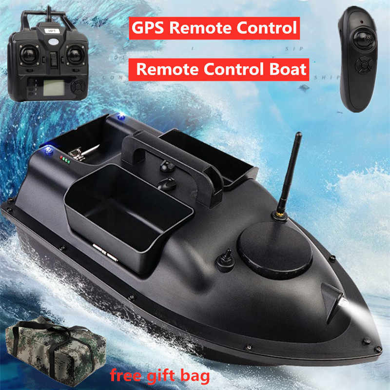 500M Wireless RC Fishing Bait Boat Fish Hook Post Boat 3 Hoppers With Handbag