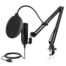 Usb Microphone for Computer Condenser Microphone Profissional Gaming Microfono Tripod For Youtube Streaming Popcast Recording