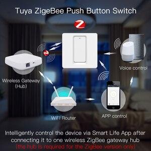 Image 2 - WiFi ZigBee akıllı Push Button anahtarı nötr gerekli akıllı yaşam Tuya APP Alexa Google ev ses kontrolü 2/3 yollu ab İngiltere yeni
