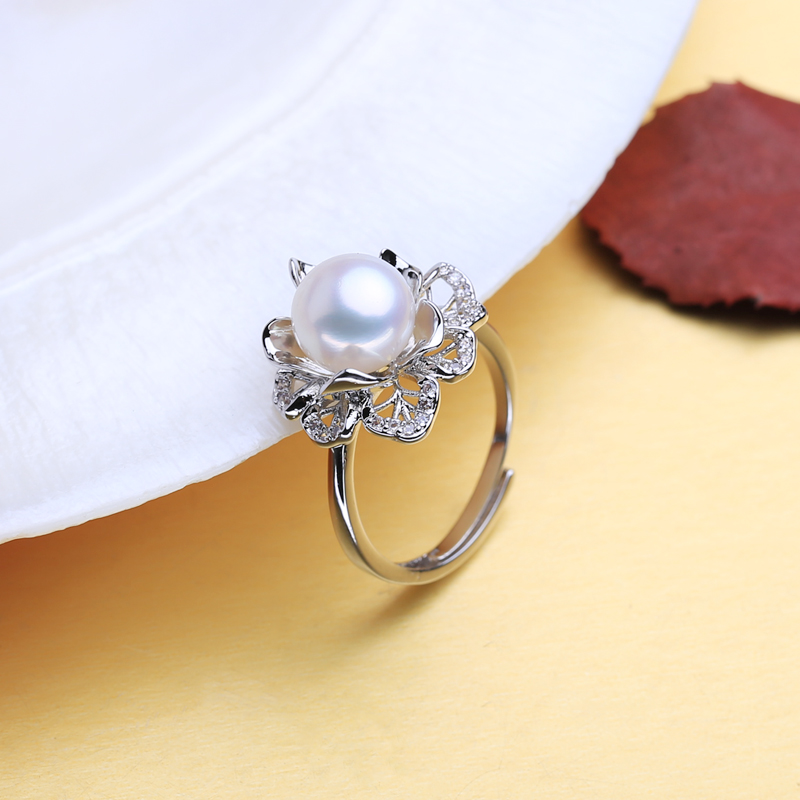 FENASY 925 Sterling Silver Ring Luxury Natural Freshwater Pearl Rings For Women Female Party Wedding Fine Jewelry