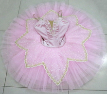 Pink professional ballerina ballet tutu for child children kids girls adults pancake dance costumes dress