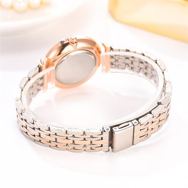 Relojes de lujo con diamantes para mujer, pulsera de acero inoxidable con correa de malla plateada, de cuarzo, 2020 5