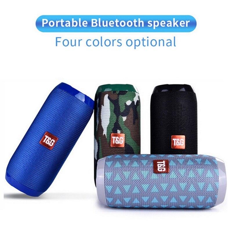 Портативная Bluetooth-Колонка TG117, беспроводная водонепроницаемая стереоколонка с поддержкой TF, AUX, FM, сабвуфера