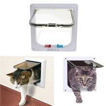 Pet дверной кошка собака щенок 4 Способа Блокировки безопасные двери для дома средней длины; маленькие и большие размеры с замочком нежный