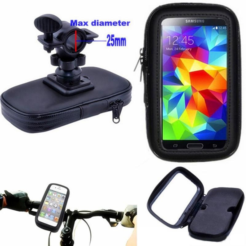 Motorcycle Bicycle <font><b>Phone</b></font> <font><b>Holder</b></font> Mobile <font><b>Phone</b></font> Stand Support for <font><b>iPhone</b></font> 11 11Pro X XR XS GPS <font><b>Bike</b></font> <font><b>Holder</b></font> with Waterproof Case Bag image