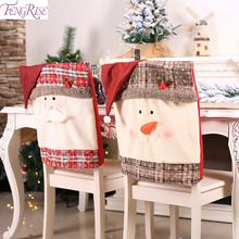 FENGRISE Merry Christmas Chair Covers Xmas Decorations For Home Decoration 2019 Noel Happy New Year