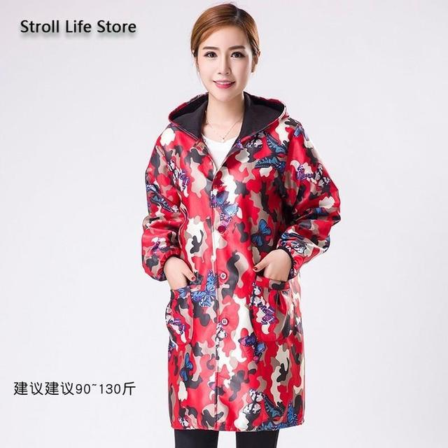 Camouflage Long Women Raincoat Rain Poncho Jackets Men Waterproof Coat Windbreaker Women Rainwear Gabardina Mujer Gift Ideas