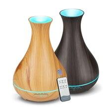 550 мл Арома эфирное масло ароматерапия увлажнитель воздуха с деревянным зерном дистанционное управление 7 цветов светодиодный свет для домашний аромадиффузор
