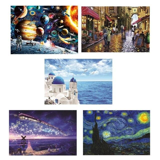 70*50 cm puzzle 1000 pièces Art assemblage image paysage puzzle pour adultes jeux jouets pour adultes mat